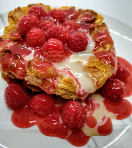 Raspberry-White Chocolate Bread Pudding