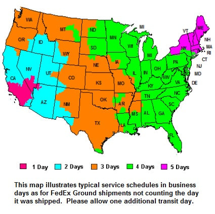 Image of shipping zones.