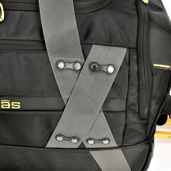An image showing hte extra rivets protected to protect the quality of the Prokas Duffel bag.