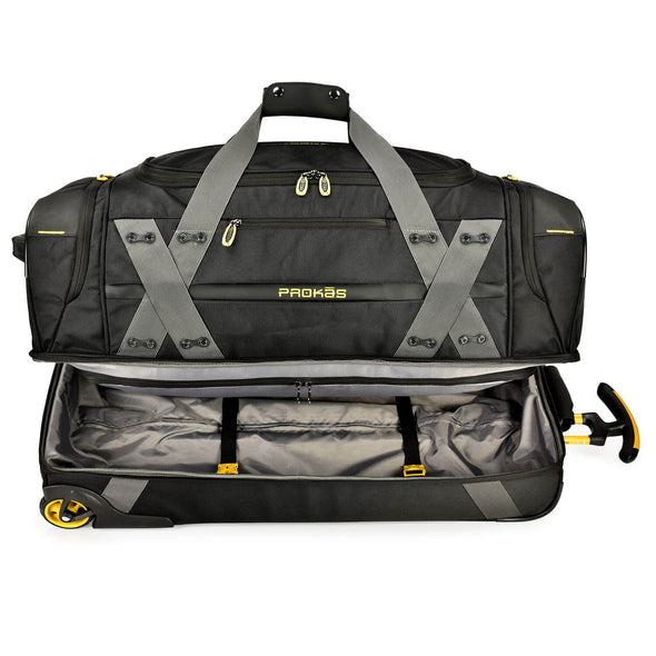 An image of the interior of the Prokas duffel bag.