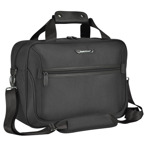 An image of a black tote traveling bag.