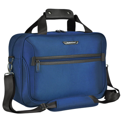 An image of a blue tote traveling bag.