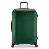 An image of a green luggage.