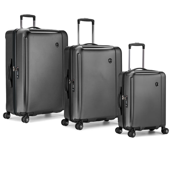 An image of a gray luggage set.