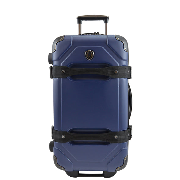 An image of a blue luggage.