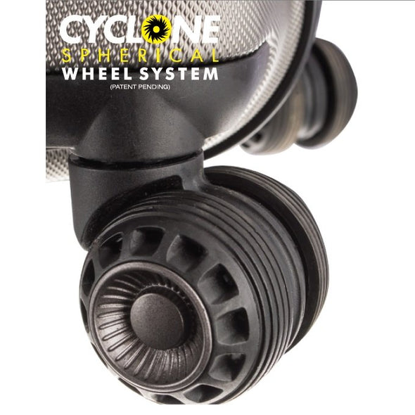 An image of the Cyclone Spherical Wheel System.