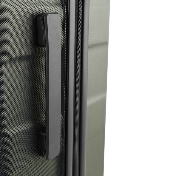 An image of the side handles on the Palencia Luggage.