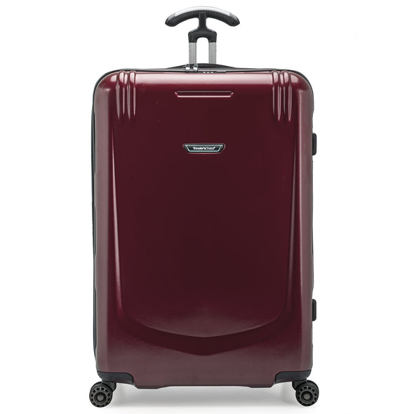 An image of a burgundy luggage.