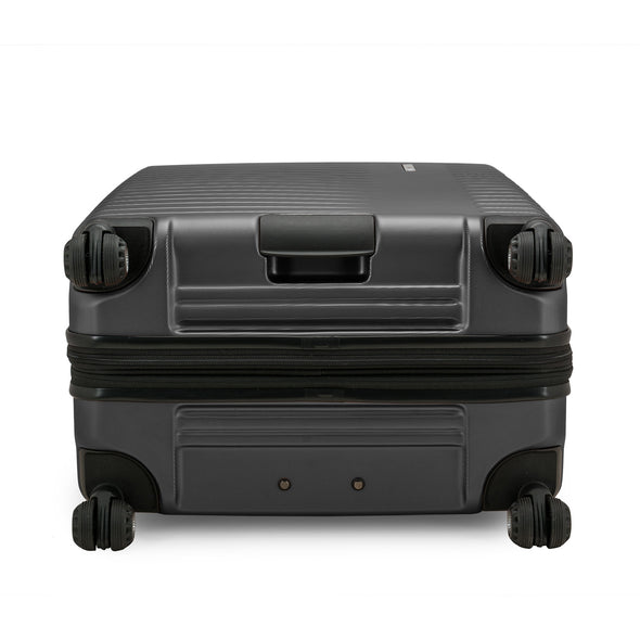 An image of the bottom of the archer luggage with the button handle for easy handling.