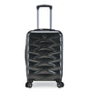 An image of a charcoal colored luggage.