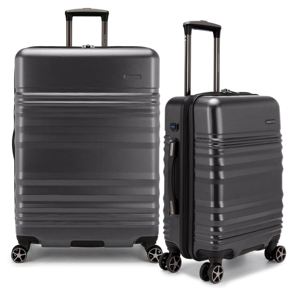 An image of a gray luggage.