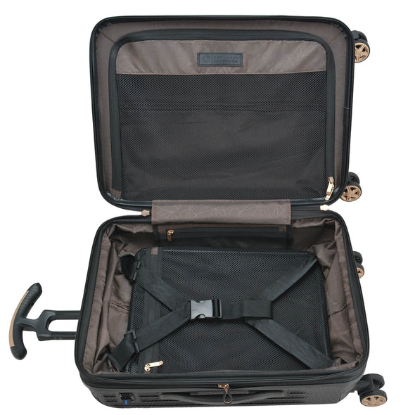 An image of the internal of a luggage.