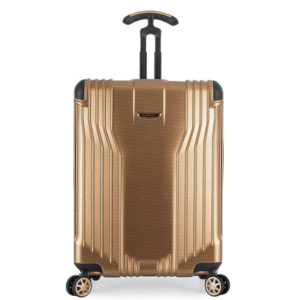 An image of a gold luggage.
