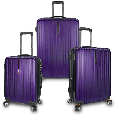 An image of a purple luggage.