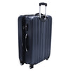 An image of the back of a blue luggage