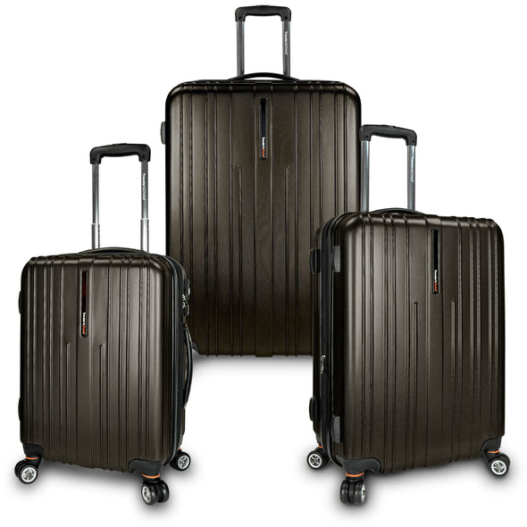 An image of a brown luggage.