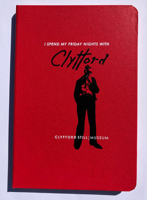 "Red Note Book "" I SPEND MY FRIDAY NIGHTS WITH CLYFFORD"""