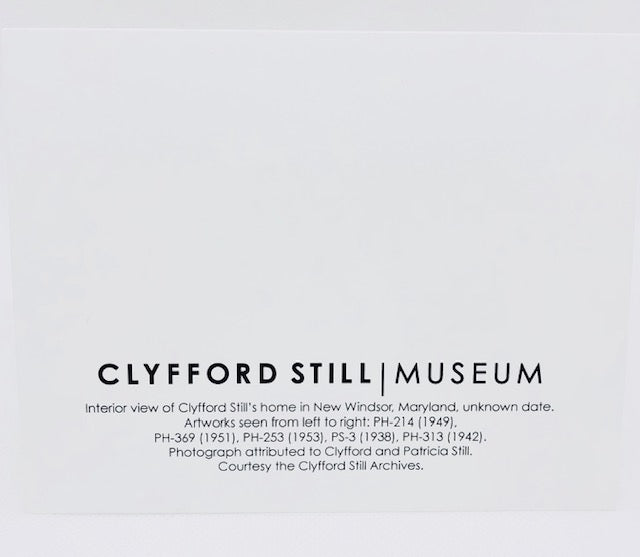 Clyfford Still Notecard with Interior View
