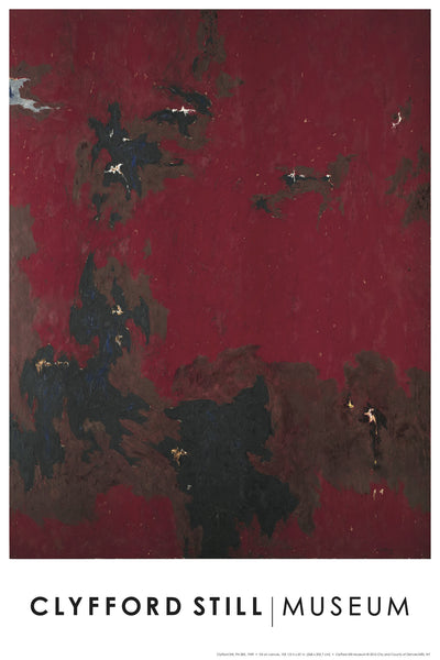 Poster: Clyfford Still's PH-385, 1949