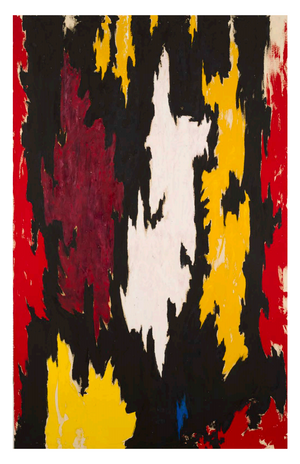 A Postcard Clyfford Still Artwork