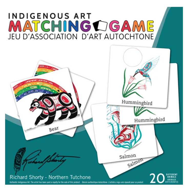 Matching Game with Indigenous Art