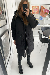 Onlgabi Oversized Long Coat - Black