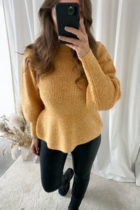 Pepper L/S Highneck Blouse - Yellow