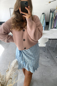 Lea Knit Cardigan - Rose
