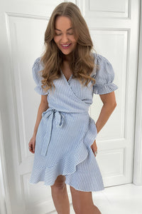 Naomi Dress - Blue Stripe