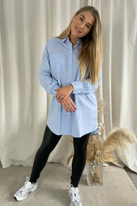 Nessa L/S Loose Shirt - Granada Sky Stripes