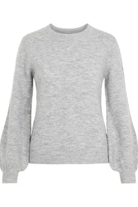 Perla LS Knit - Light Grey