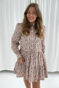 Thea Dress - Light Pink Print