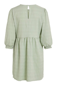 Sully 3/4 Smock Sleeve Dress - Green