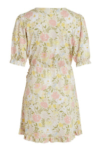 Octavia S/S Dress - White Flower Print