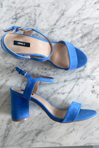Balsa Heeled Sandal - Blue