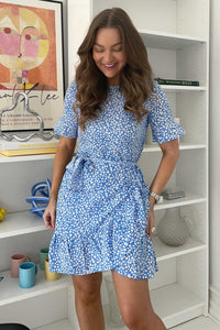 Henna 2/4 Short Dress - Blue