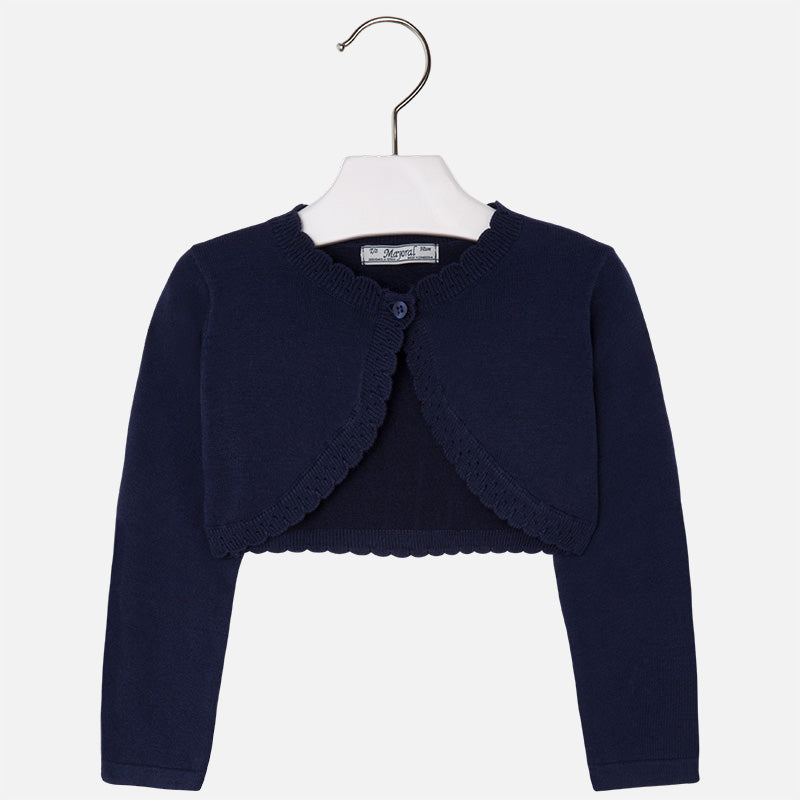 Mayoral Girls Navy Bolero Cardigan 320
