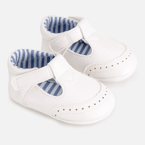 Mayoral Baby Boys White Pram Shoes 9272