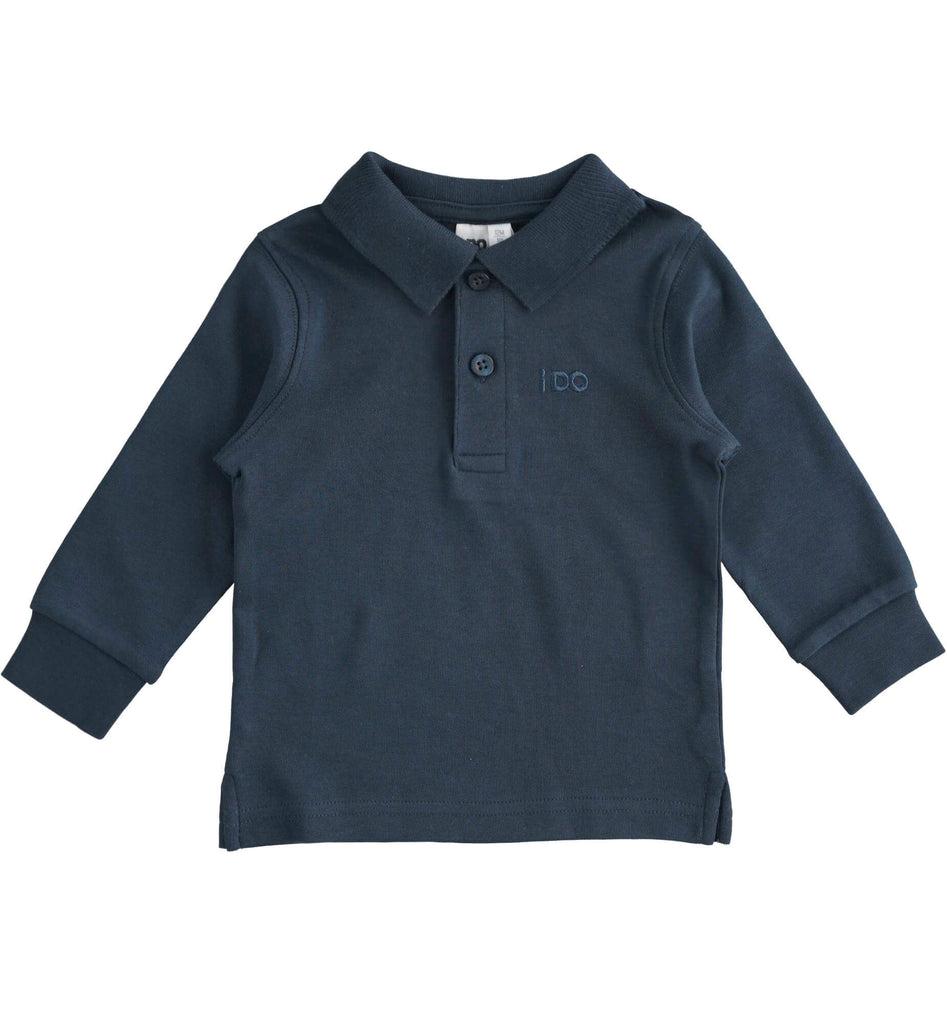 Boys Navy Blue Polo Shirt