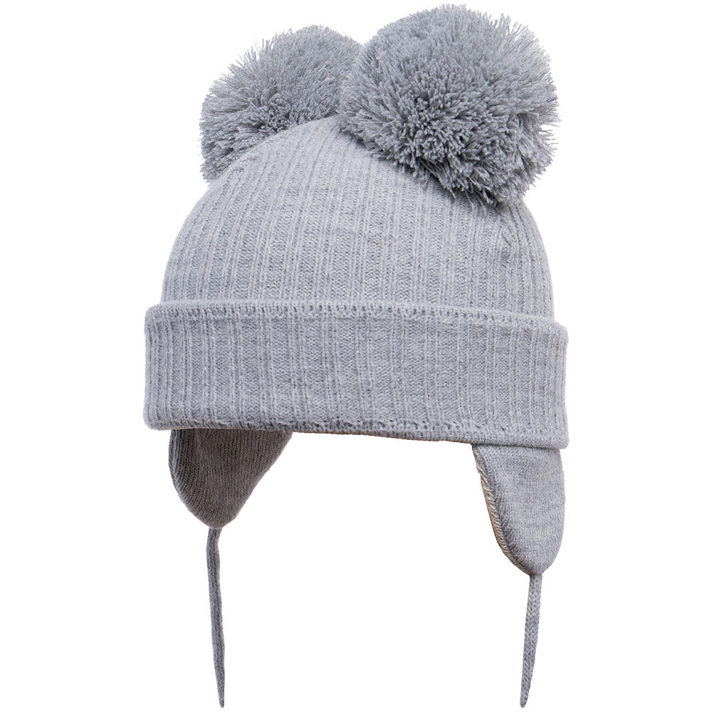 Satila of Sweden Minnie Grey Pom Pom Hat