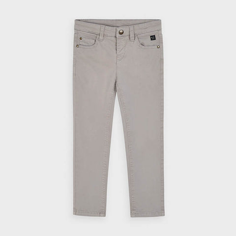 Light Grey Cotton Trousers