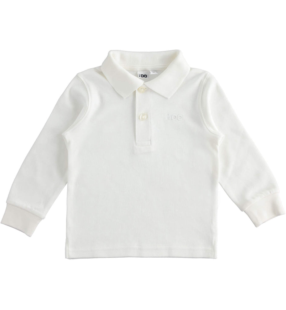 Boys Cream Polo Shirt