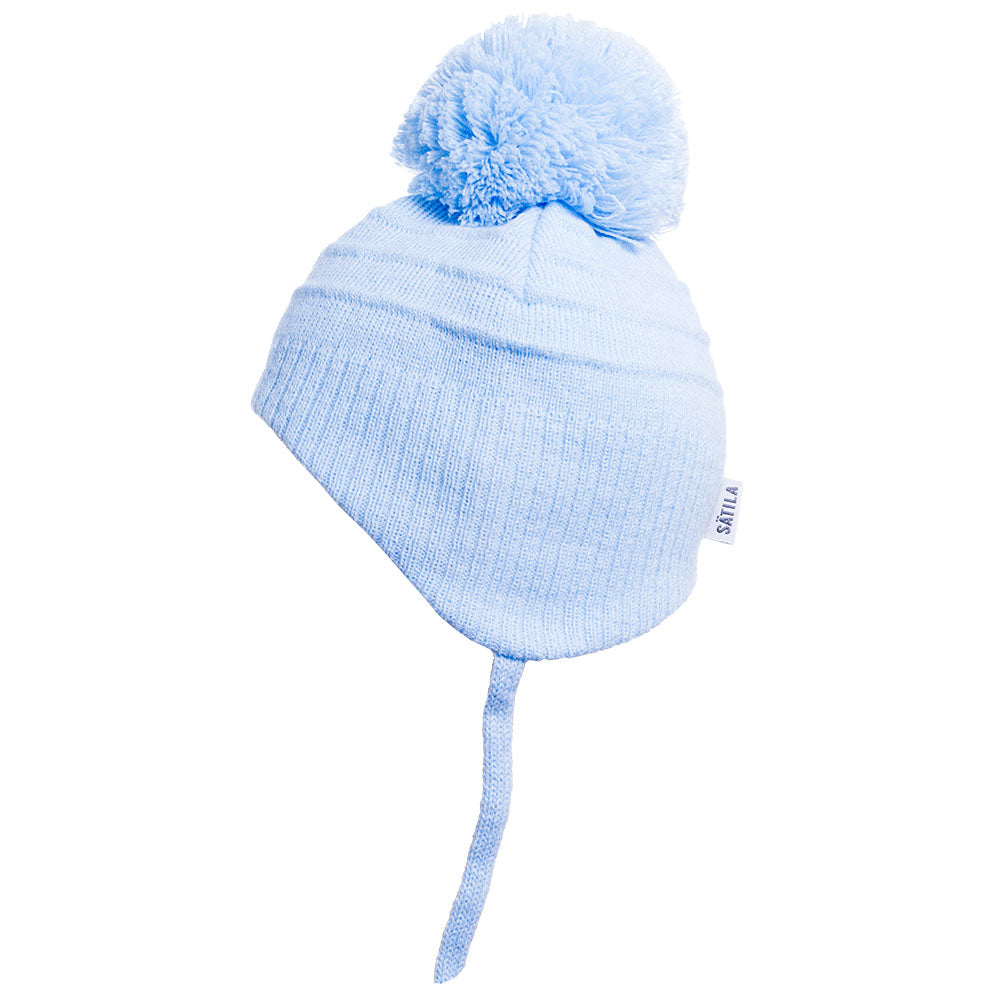 Satila of Sweden Tiny Blue Pom Pom Hat