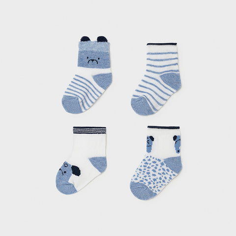 MAYORAL Four Pack Blue Socks