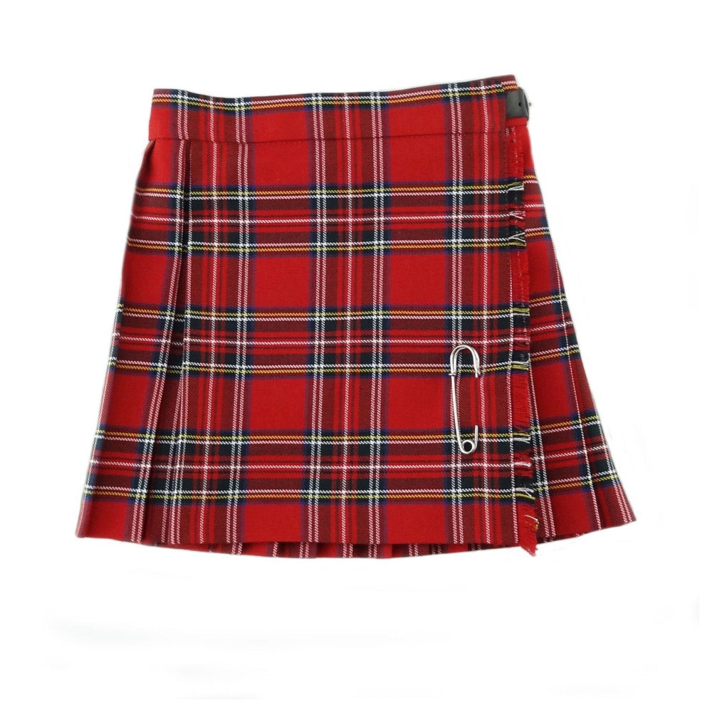 Girls Royal Stewart Tartan Kilt