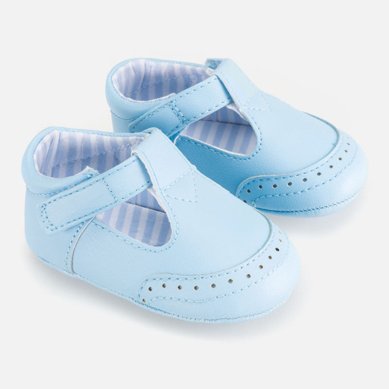 Mayoral Baby Boys Pale Blue Pram Shoes 9272