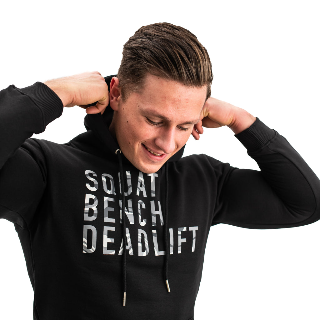 A7 Bar Grip Hoodie is great as a squat hoodie as well as for bench pressing. The perfect grip shirt. Purchase your Bar Grip tshirt in Europe and the UK from www.A7UK.com. Purchase Bar Grip Shirt Europe from A7 UK. Best Bar Grip Tshirts, shipping to UK and Europe from A7 UK. The best Powerlifting apparel for all your workouts. Available in UK and Europe including France, Italy, Germany, Sweden and Poland
