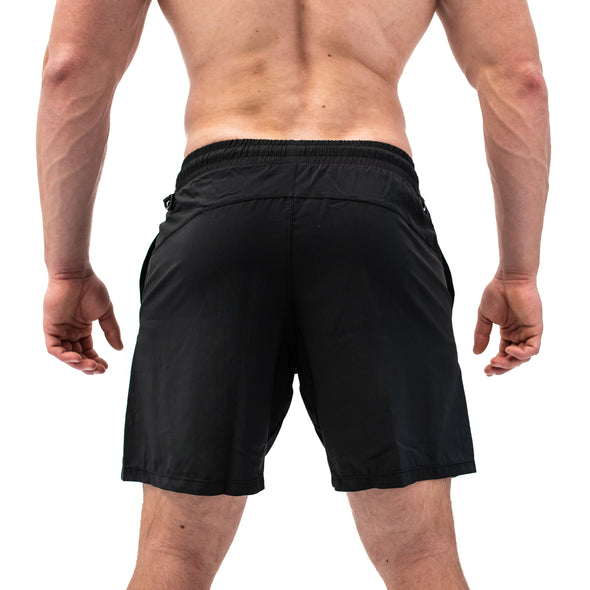 Men's Centre-stretch Squat Shorts - Black