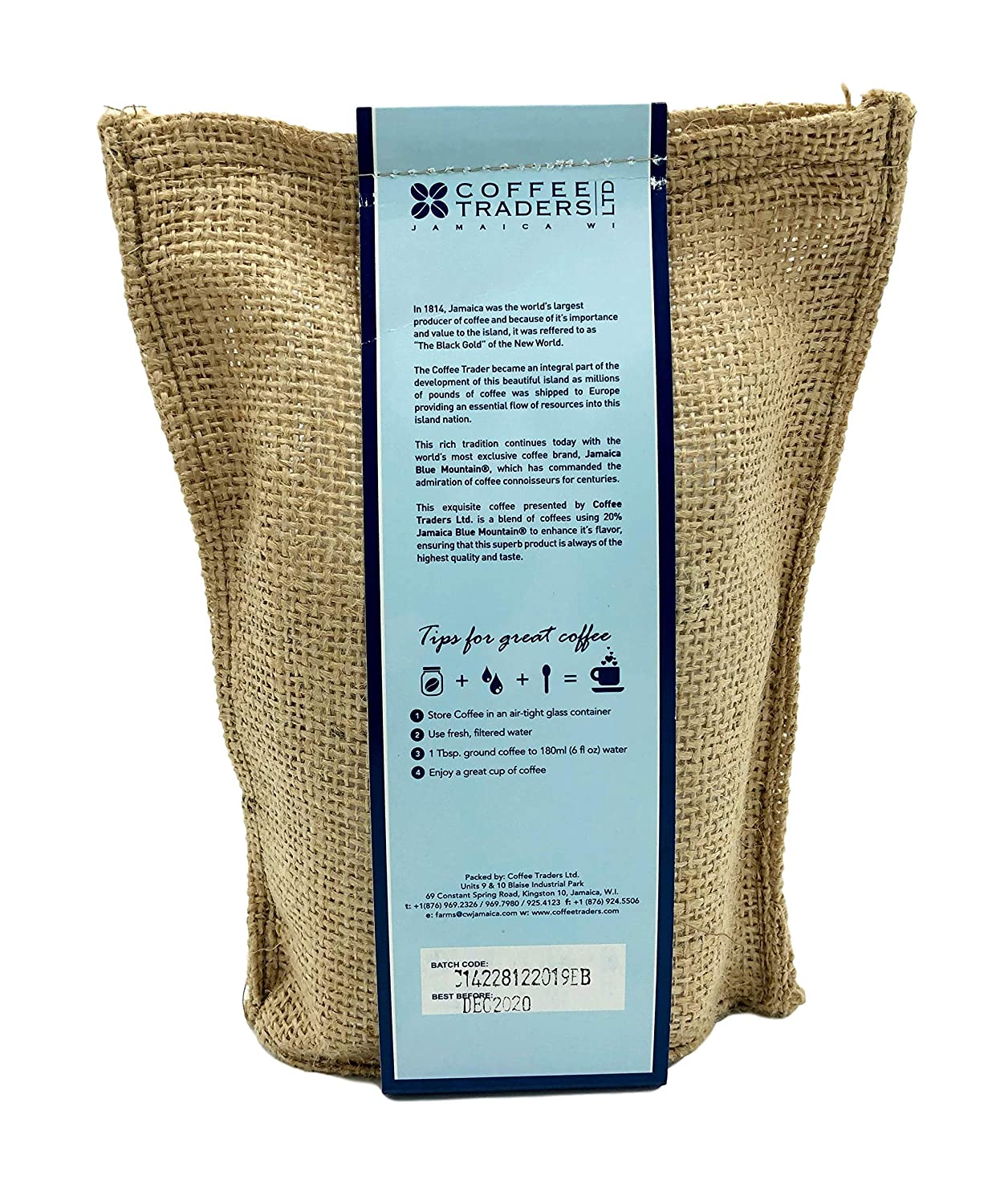 Coffee Traders - Jamaica Blue Mountain Coffee Blend (Whole Beans) - ( Expires December 2020)