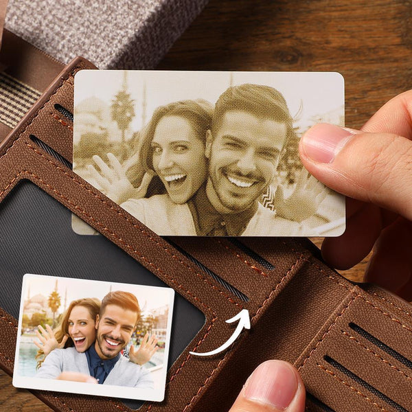 Custom Photo Wallet Insert Card Yellow